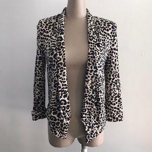 H&M Leopard Print asymmetrical Cardigan